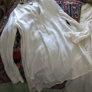 Soft Surroundings white tunic blouse Medium